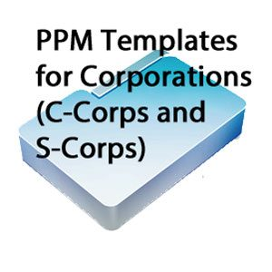 PPM Templates for Corporations
