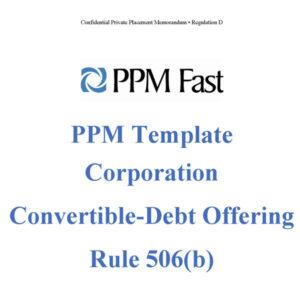 ppm template debt covertible 506b