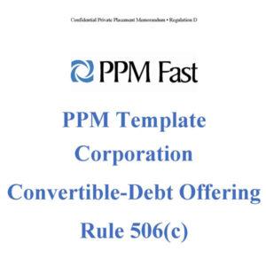ppm template 506c debt convertible