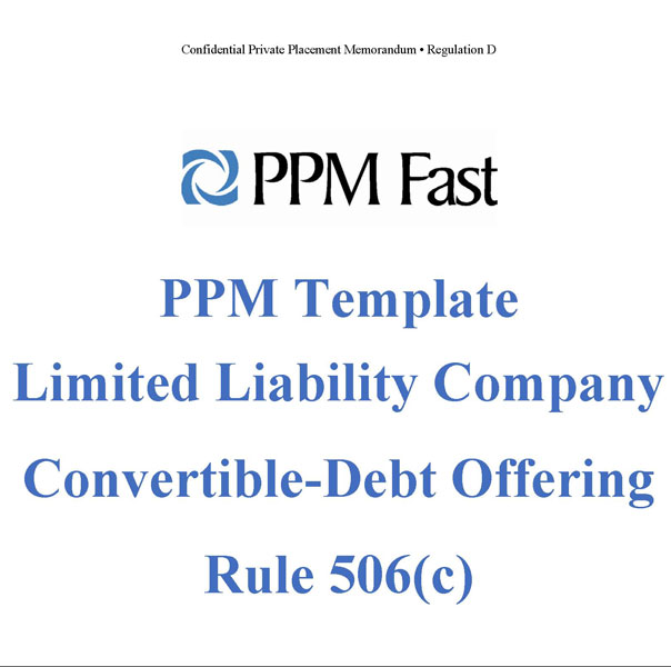Ppm Template For Llc Convertible Debt  C  Private Placement