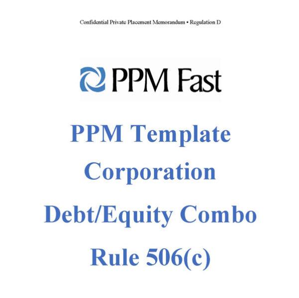 reg d equity debt ppm 506c