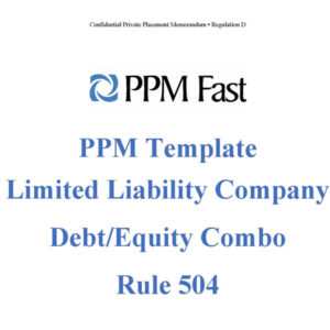 debt equity ppm template