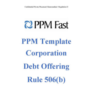 ppm template for rule 506b debt offering