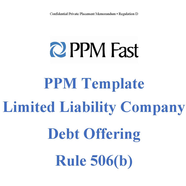 Ppm Template For Llc Debt Offering  Rule B  Private Placement