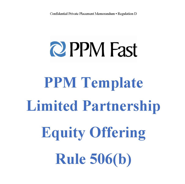 PPM Template For LP Equity Offering Rule B Private - Offering memorandum template
